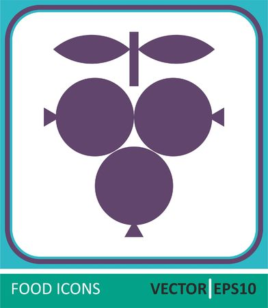 Berries, grapes. Vector Icon