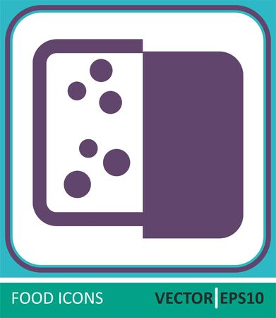 Cheese, Dairy produce. Vector Icon