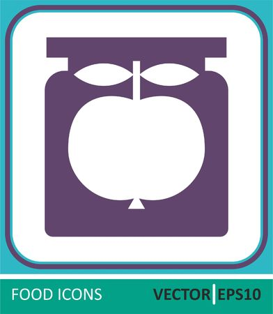 Jar of jam. Vector Icon