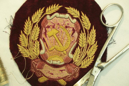 embroidery of the Union of Soviet Socialist Republics 写真素材