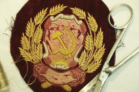 embroidery of the Union of Soviet Socialist Republics 免版税图像
