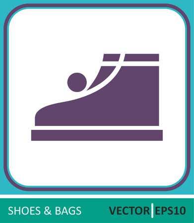 Children's shoes.Vector Icon.