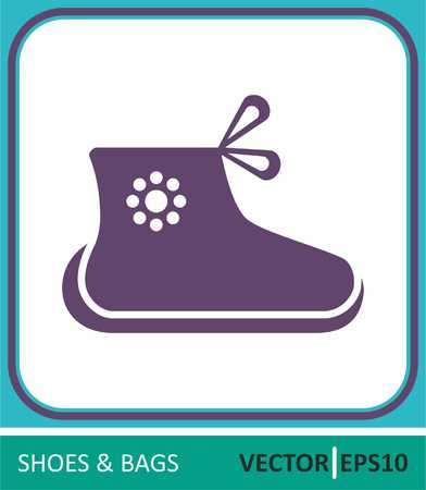Childrens shoes.Vector Icon.