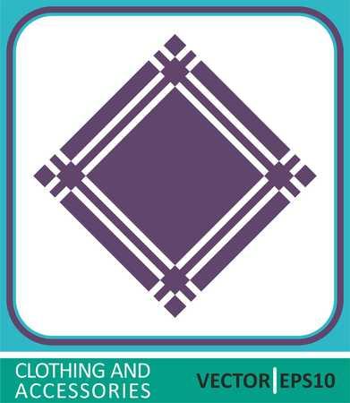 Handkerchief, headscarf. Vector Icon Stock Illustratie