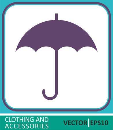 Umbrella sign icon. Rain protection symbol. Vectores