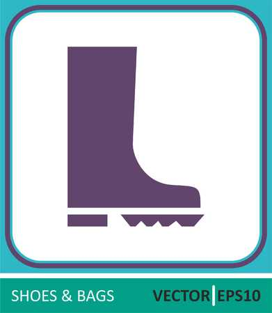 Rubber boots. Vector Icon