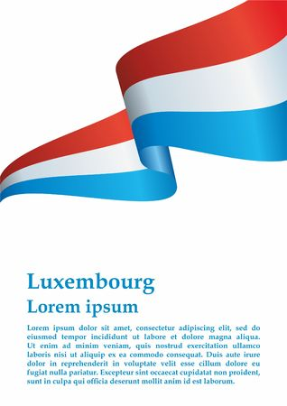 Flag of Luxembourg, Grand Duchy of Luxembourg. Luxembourg and other uses. Bright, colorful vector illustration.