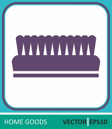 Clothes brush. Vector Icon. Simple vector illustration for graphic and web design.