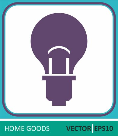 lamp, electric. Vector Icon. Simple vector illustration for graphic and web design.