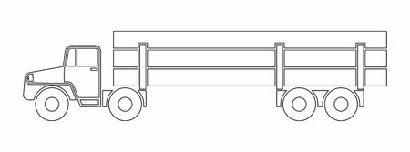 Timber carrier, timber carrying. Vector Icon. Simple vector illustration for web design.