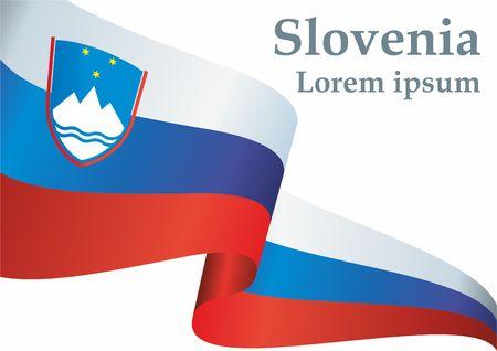 Flag of Slovenia, Republic of Slovenia. The Slovenia flag for award design. Bright, colorful vector illustration Illustration