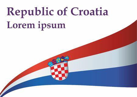 Flag of Croatia, Republic of Croatia. The flag of Croatia. Bright, colorful vector illustration Illustration
