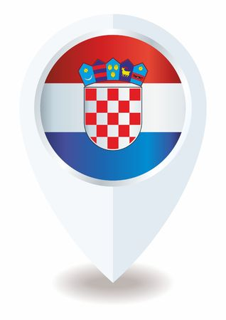 Flag of Croatia, Republic of Croatia. The flag of Croatia. Bright, colorful vector illustration 矢量图像