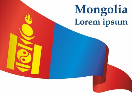 Flag of Mongolia. Bright, colorful vector illustration for web and graphic design.