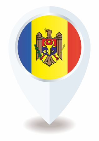 Flag of Moldova, Republic of Moldova. Template for the award of official design with the flag of Moldova. Bright, colorful vector illustration for web and graphic design.