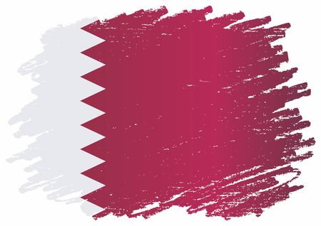 Flag of Qatar, State of Qatar. Template for the design of the Qatar. Bright, colorful vector illustration for web and graphic design. Illustration