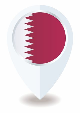 Flag of Qatar, State of Qatar. Template for the design of the Qatar. Bright, colorful vector illustration for web and graphic design. Иллюстрация