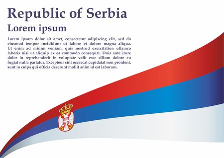 Flag of Serbia, Republic of Serbia. The flag of Serbia. Bright, colorful vector illustration for web and graphic design.