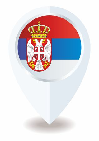Flag of Serbia, Republic of Serbia. The flag of Serbia. Bright, colorful vector illustration for web and graphic design. Ilustração