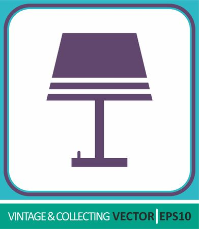 table lamp, night light. Vector Icon. Simple vector illustration for web design.