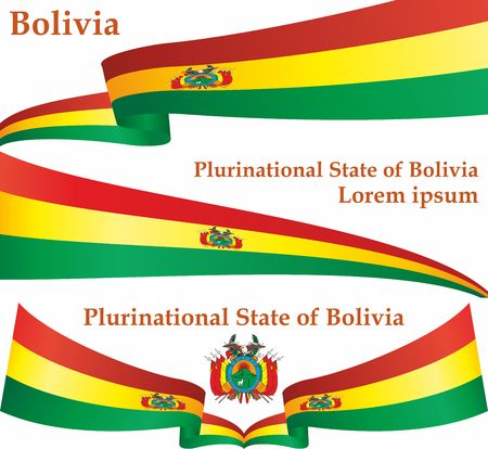 Flag of Bolivia, Plurinational State of Bolivia. The flag of Bolivia. Bright, colorful vector illustration.