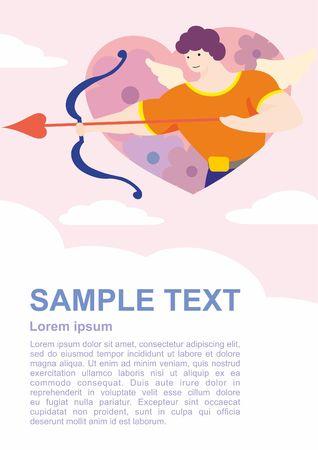 Happy Valentine Day Symbol. Vector Illustration, design for poster, wedding, love.