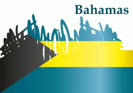 Flag of the Bahamas, Commonwealth of the Bahamas. Template for the design of the Bahamas. Bright, colorful vector illustration.