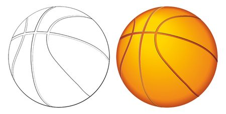 Basketball ball. leather ball dribbling and passing through competition tournaments. Vector illustration. Illustration