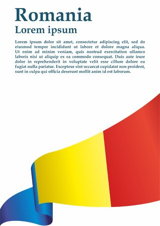 Flag of Romania, Romania. The flag of Romania. Bright, colorful vector illustration.