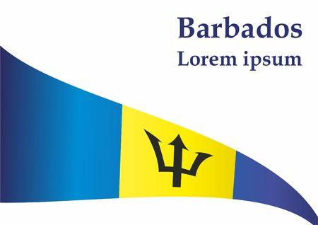 Flag of Barbados, Barbados. Barbados. Bright, colorful vector illustration. Vettoriali