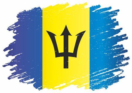 Flag of Barbados, Barbados. Barbados. Bright, colorful vector illustration. Illustration