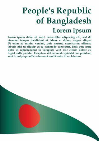 Flag of Bangladesh, People's Republic of Bangladesh. The flag of Bangladesh. Bright, colorful vector illustration.
