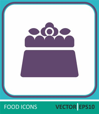 cake, confectionery. Vector Icon. Simple vector illustration for graphic and web design.