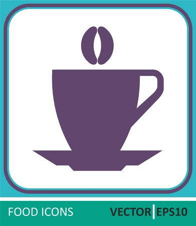 cup of coffee. Vector Icon. Simple vector illustration for graphic and web design. Иллюстрация