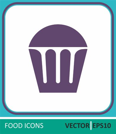 muffin, bakery products. Vector Icon. Simple vector illustration for graphic and web design.