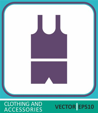 Boys underwear, panties, t-shirts. Vector Icon. Simple vector illustration for graphic and web design. Vetores