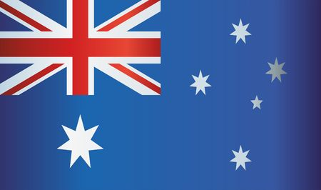 Flag of Australia, Commonwealth of Australia. Australia and other uses. Bright, colorful vector illustration.