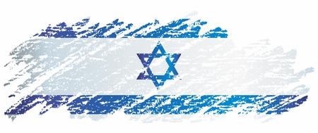 Flag of Israel, Flag of Israel. Bright, colorful vector illustration