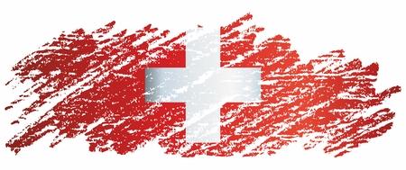 Bandera de Suiza, Confederación Suiza. La bandera de Suiza es una plantilla para el diseño de un premio. Ilustración de vector brillante y colorido.