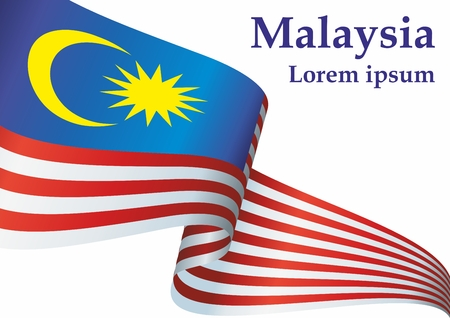 Flag of Malaysia, Malaysia. The flag of Malaysia. Bright, colorful vector illustration.