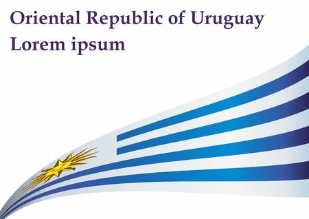 Flag of Uruguay, Oriental Republic of Uruguay. Uruguay. Bright, colorful vector illustration.