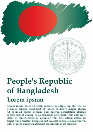 Flag of Bangladesh, People's Republic of Bangladesh. The flag of Bangladesh. Bright, colorful vector illustration.