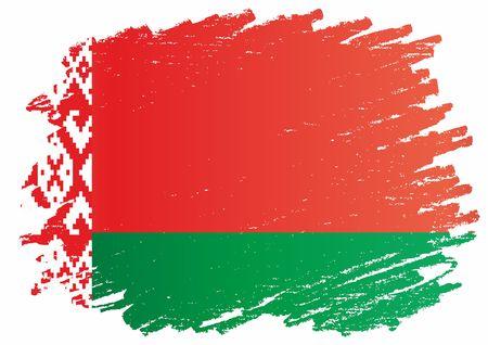 Flag of Belarus, Republic of Belarus. Flag of Belarus and other uses. Bright, colorful vector illustration. Illusztráció