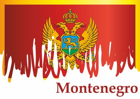 Flag of Montenegro, Montenegro. The flag of Montenegro. Bright, colorful vector illustration. 写真素材 - 122251219
