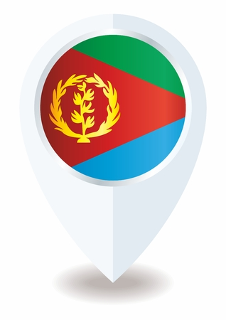 document with the flag of eritrea. Bright, colorful vector illustration.