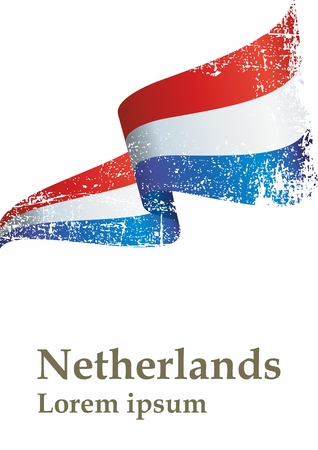 Flag of the Netherlands. Kingdom of the Netherlands. The flag of the Netherlands. Bright, colorful vector illustration