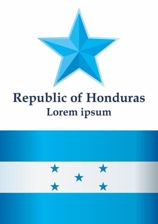 Flag of Honduras, Republic of Honduras. The flag of Honduras. Bright, colorful vector illustration.
