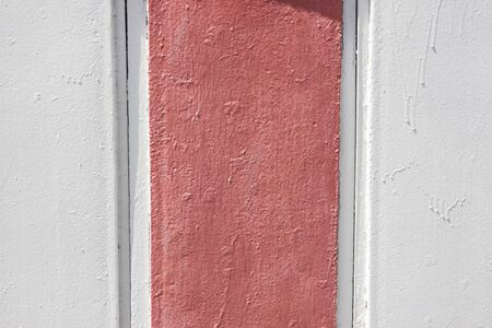 Painted corrugated metal texture. Abstract background painted in gray and dirty pink color.