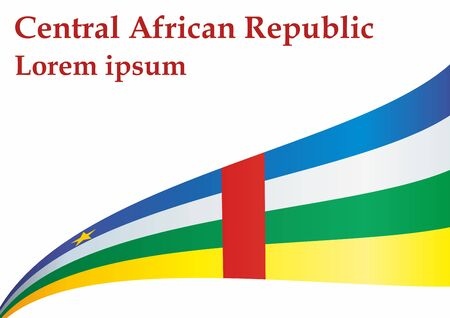 Flag of the Central African Republic, Central African Republic. Flag of the Central African Republic. Bright, colorful vector illustration.