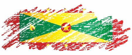Flag of Grenada, Grenada is a country of the West Indies, Island of Spice. Template for the award of the Grenada. Bright, colorful vector illustration.